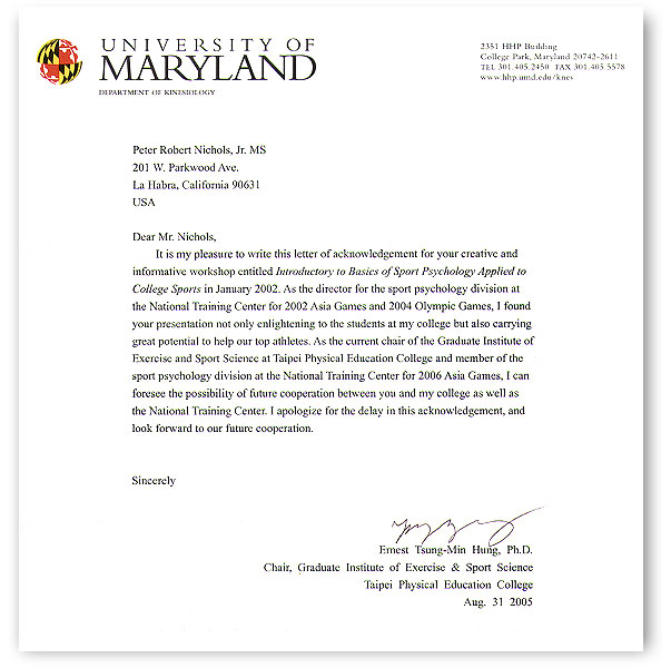 Thank You Letter For Recommendation After Acceptance from getsportpsyched.com